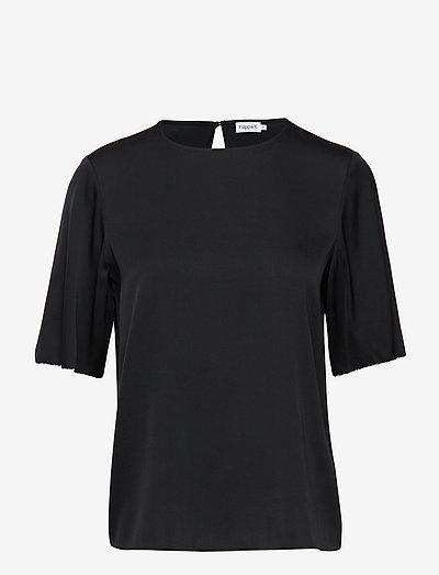 Silk Tee - t-shirts - black