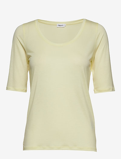 Tencel Scoop-neck Tee - t-shirts - pale lime