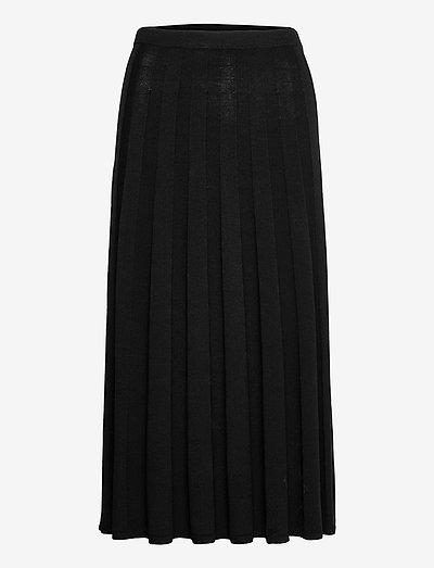 Ruby Knitted Skirt - midihameet - black