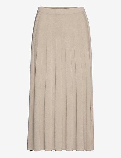 Ruby Knitted Skirt - midihameet - grey beige