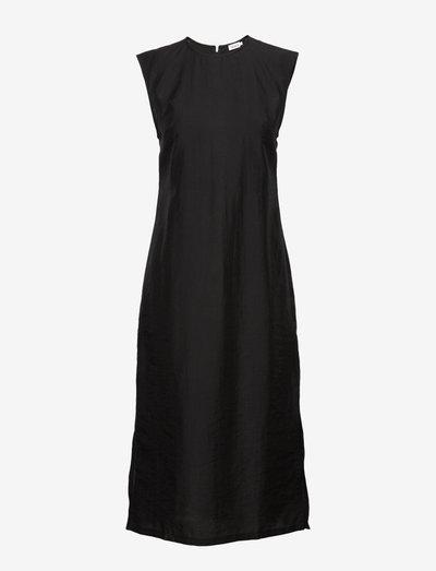 Abby Dress - midi dresses - black