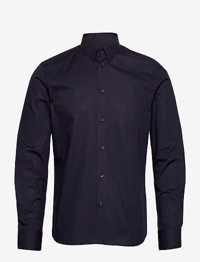 M. Paul Stretch Shirt - oxford overhemden - navy