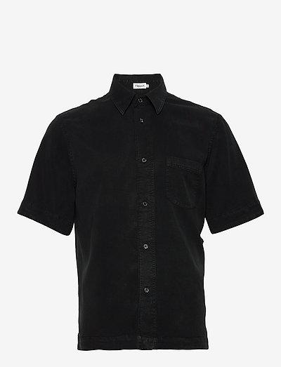 M. Owen Tencel Shirt - linneskjortor - almost bla
