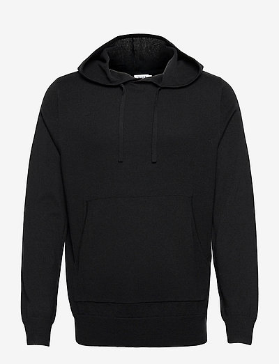 M. Arthur Knitted Hoodie - kapuzenpullover - black