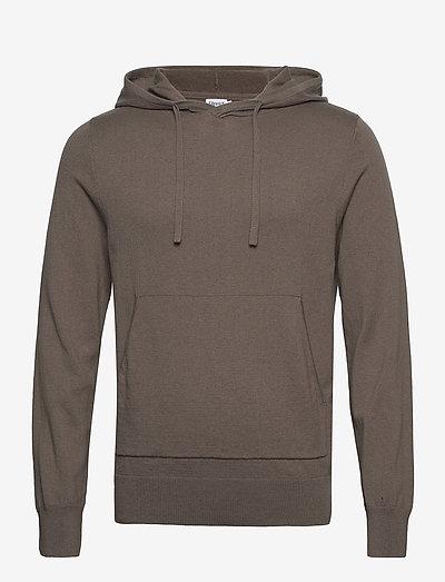 M. Arthur Knitted Hoodie - sweats à capuche - dark taupe