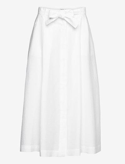 Alvina Skirt - midi skirts - white chal