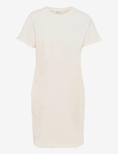 Effie T-Shirt Dress - kesämekot - white chal
