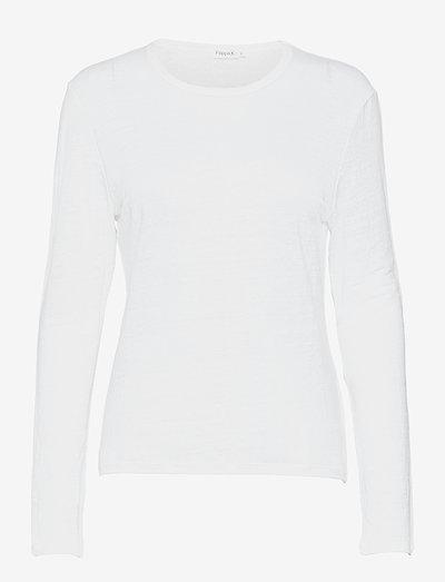 Lily Linen Top - pitkähihaiset t-paidat - white
