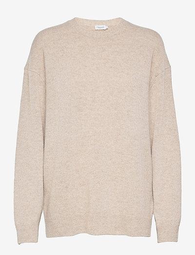 Ava Sweater - neulepuserot - beige mela