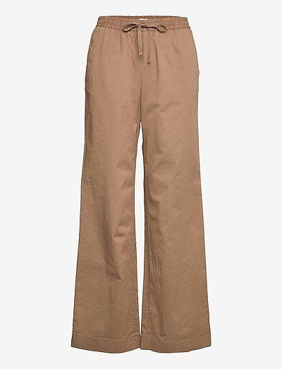 Gillian Trouser - leveälahkeiset housut - muddy brow