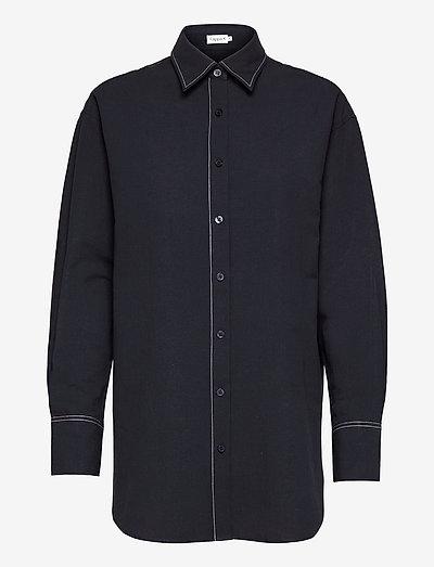 Mandy Cotton Shirt - pitkähihaiset paidat - navy