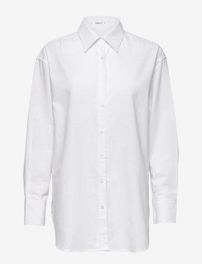 Mandy Cotton Shirt - pitkähihaiset paidat - white chal