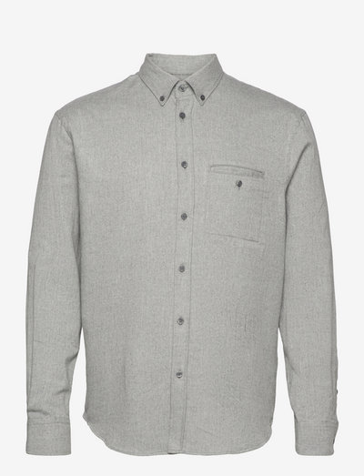 M. Zachary Flannel Shirt - chemises de lin - grey melan