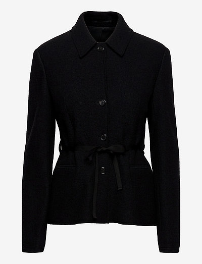 Myra Jacket - wool jackets - black