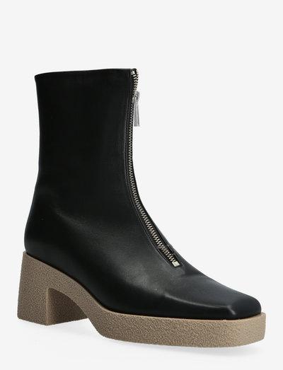 Eileen Platform Boot - enkellaarsjes met hak - black/taup