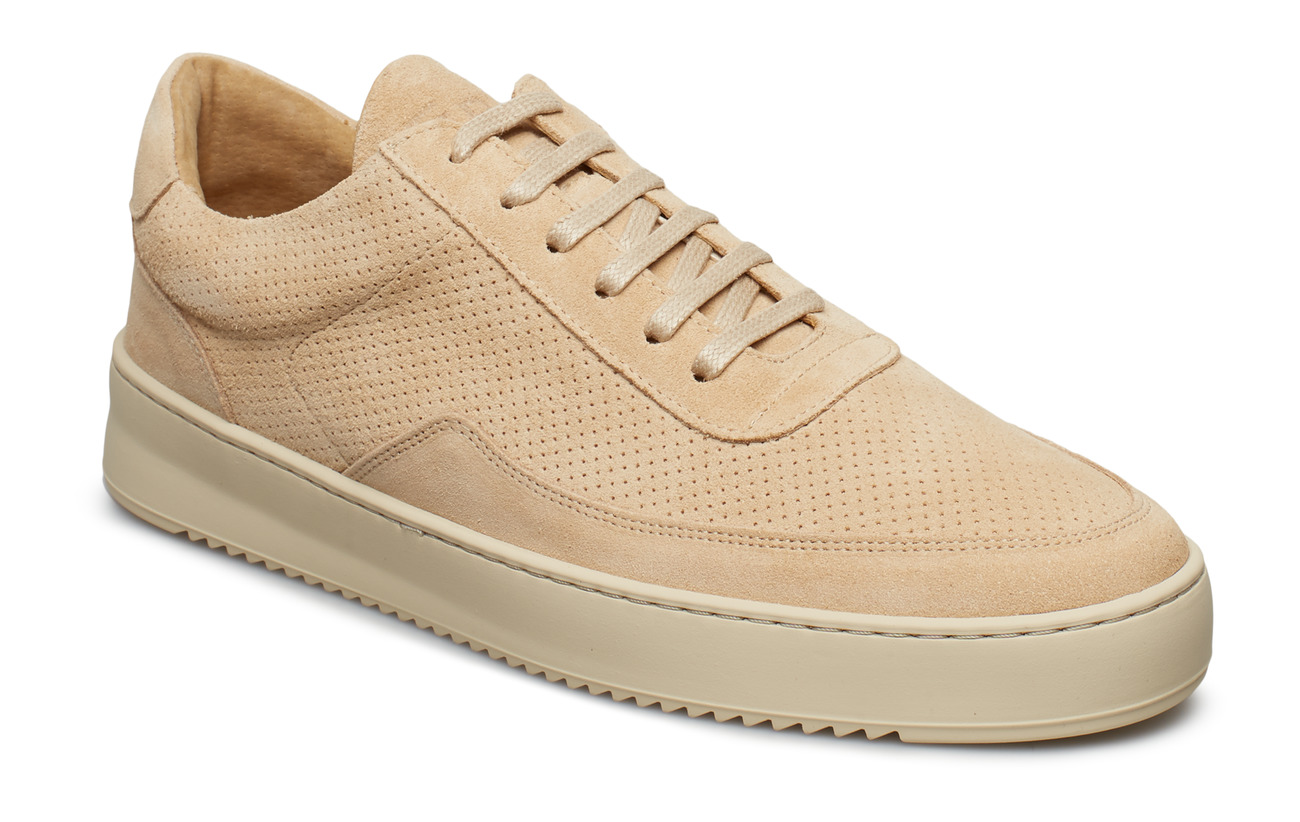 Filling Pieces Low Mondo Ripple Suede Perforated