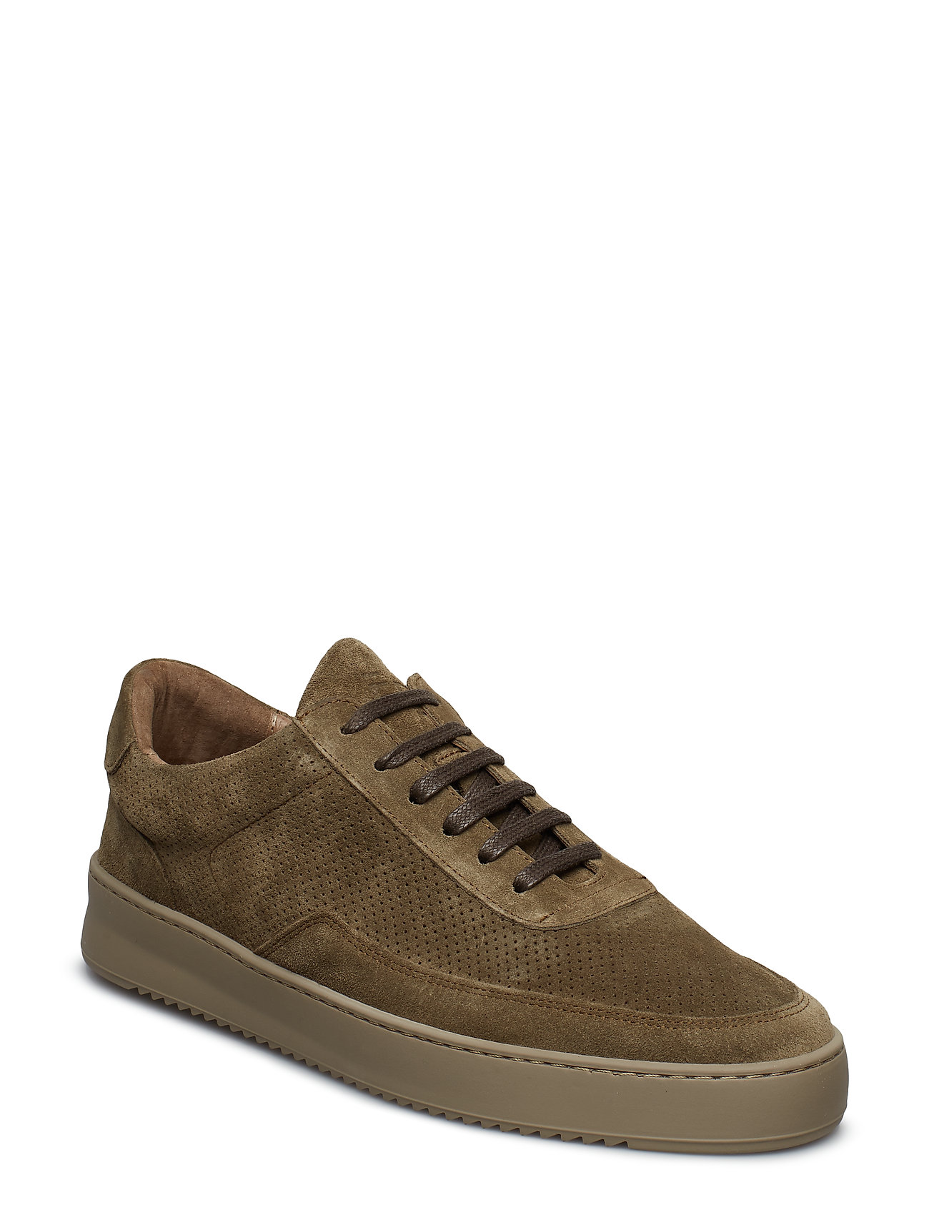 Filling Pieces - Low Mondo Ripple Suede Perforated - låga sneakers - army green - 0