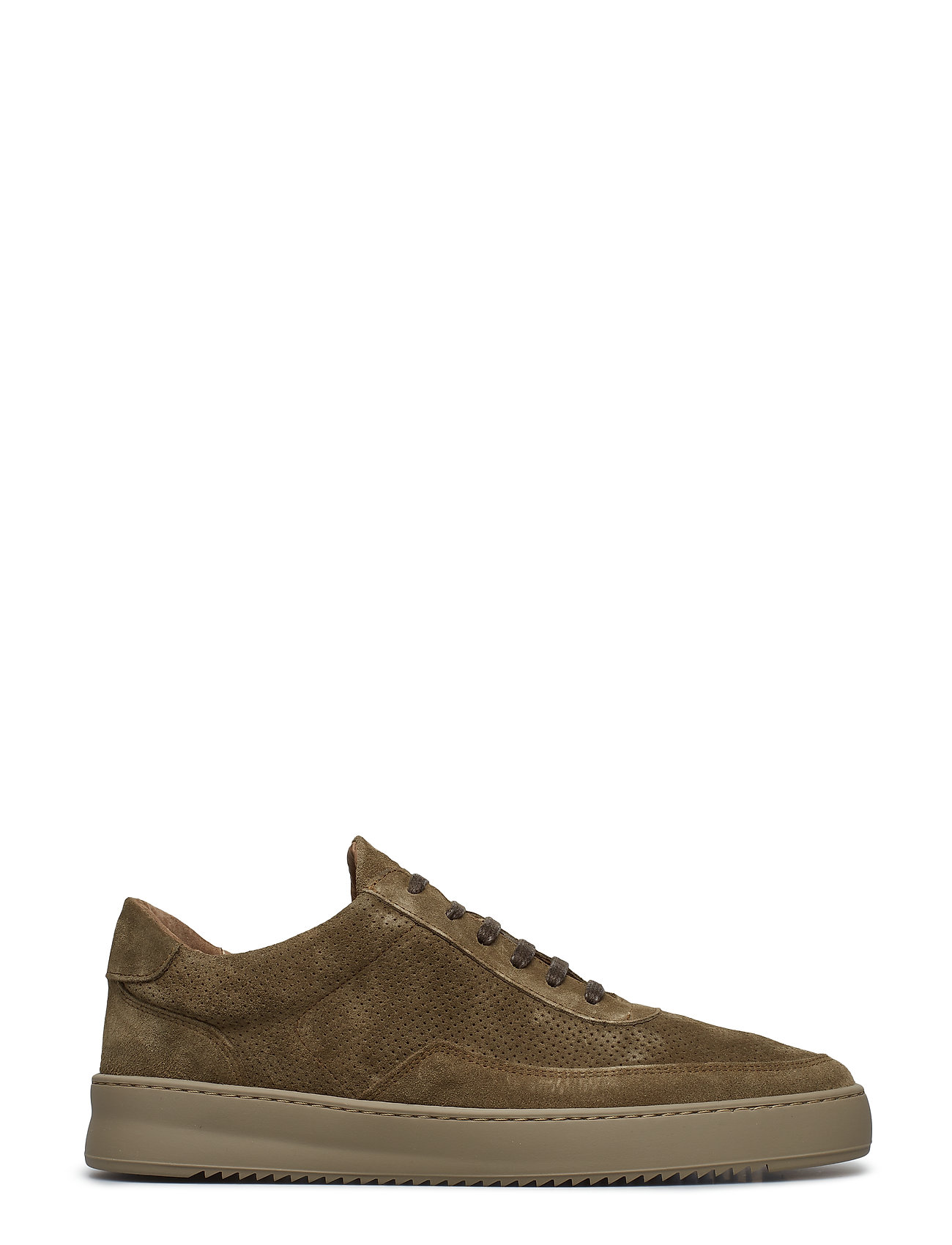 Filling Pieces - Low Mondo Ripple Suede Perforated - låga sneakers - army green - 3
