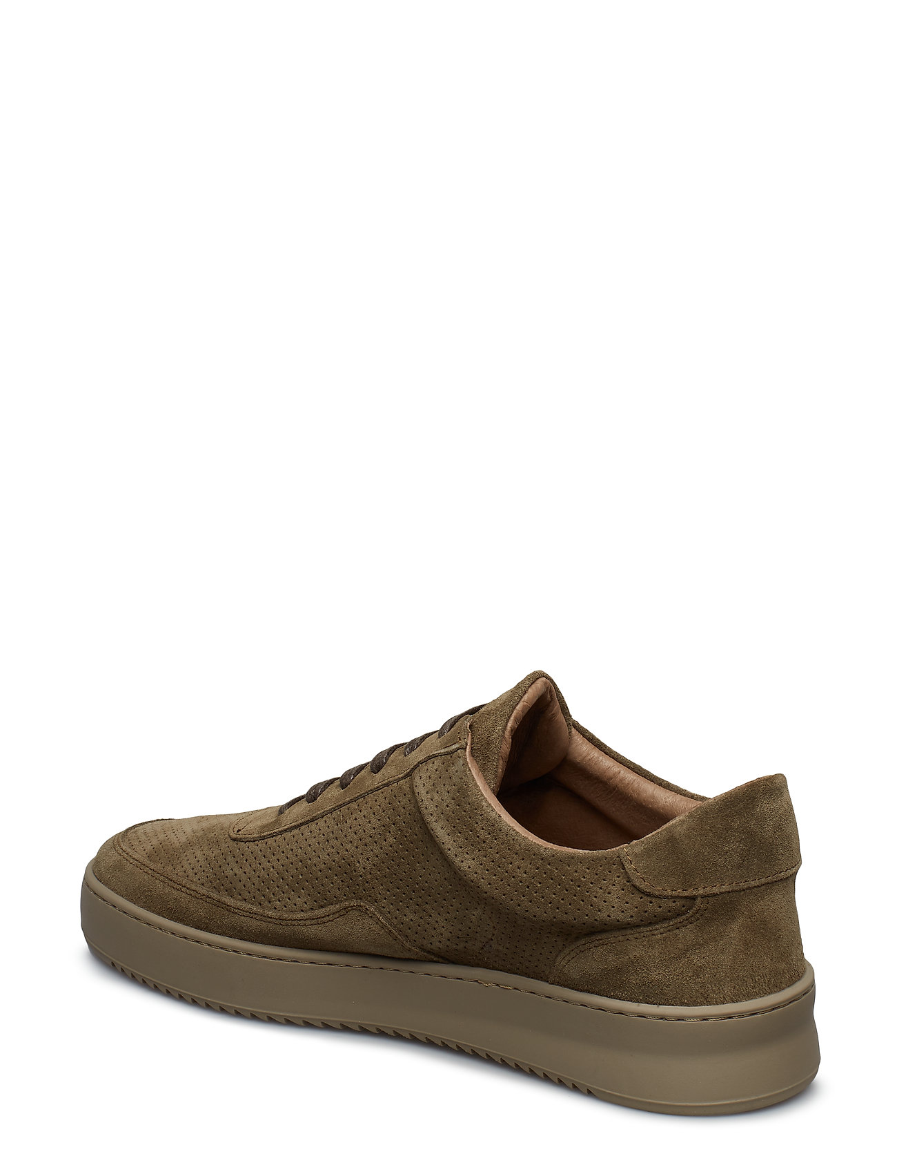 Filling Pieces - Low Mondo Ripple Suede Perforated - låga sneakers - army green - 1