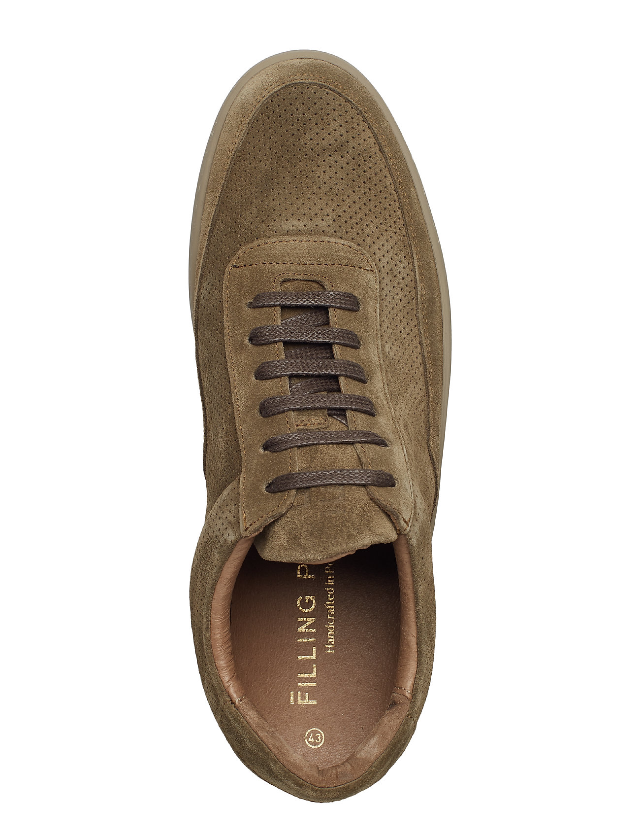 Filling Pieces - Low Mondo Ripple Suede Perforated - låga sneakers - army green - 2