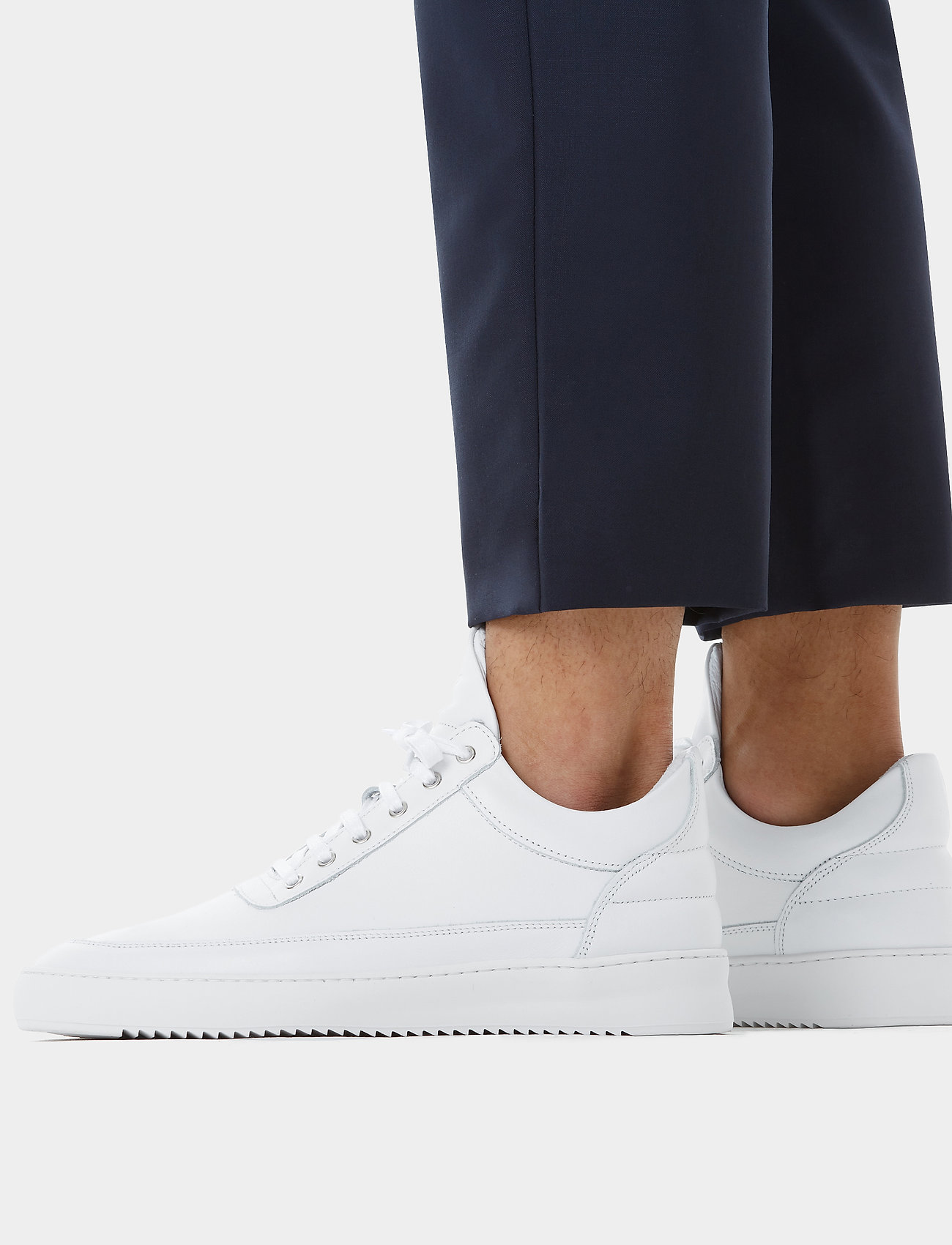 Filling Pieces - Low Top Ripple Lane Nappa - low tops - white - 0