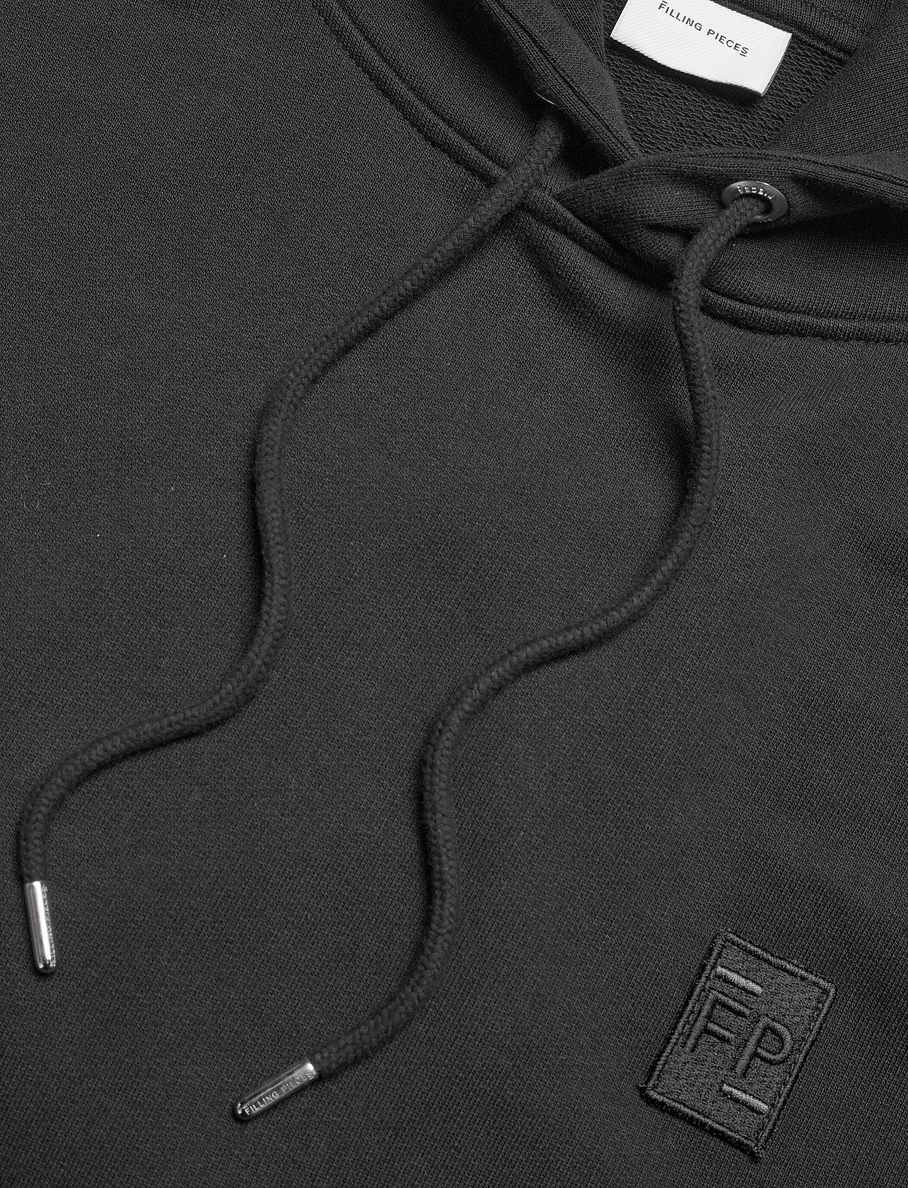 Filling Pieces - Essential Two Stripe Hoodie - hoodies - black - 2