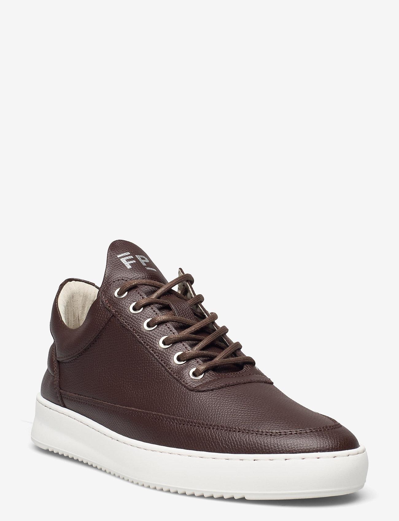 Filling Pieces - Low Top Crumbs - höga sneakers - dark brown - 1
