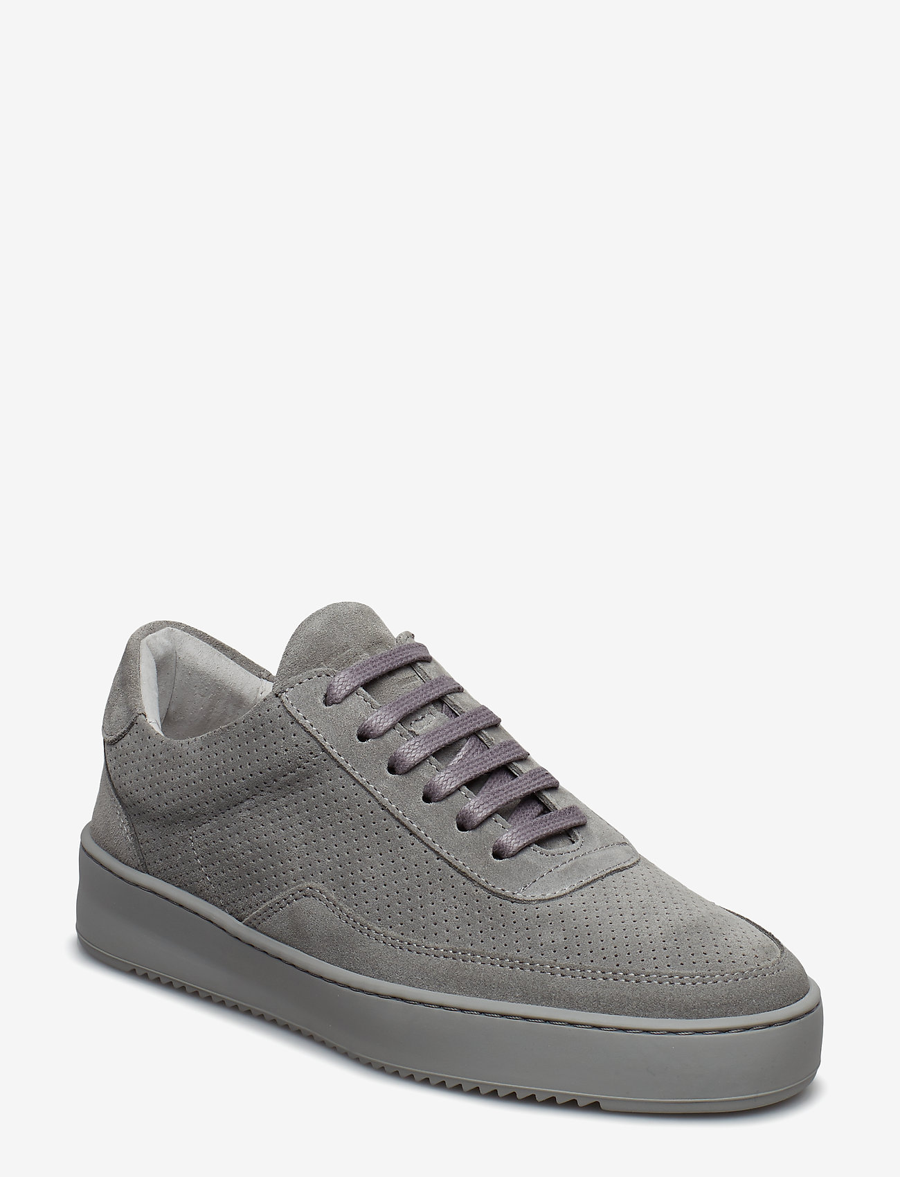 Filling Pieces - Low Mondo Ripple Suede Perforated - låga sneakers - cement grey - 2