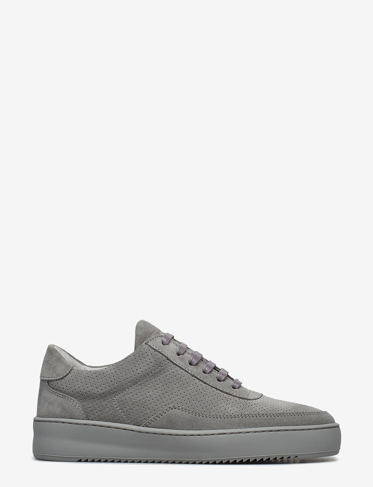 Filling Pieces - Low Mondo Ripple Suede Perforated - låga sneakers - cement grey - 1