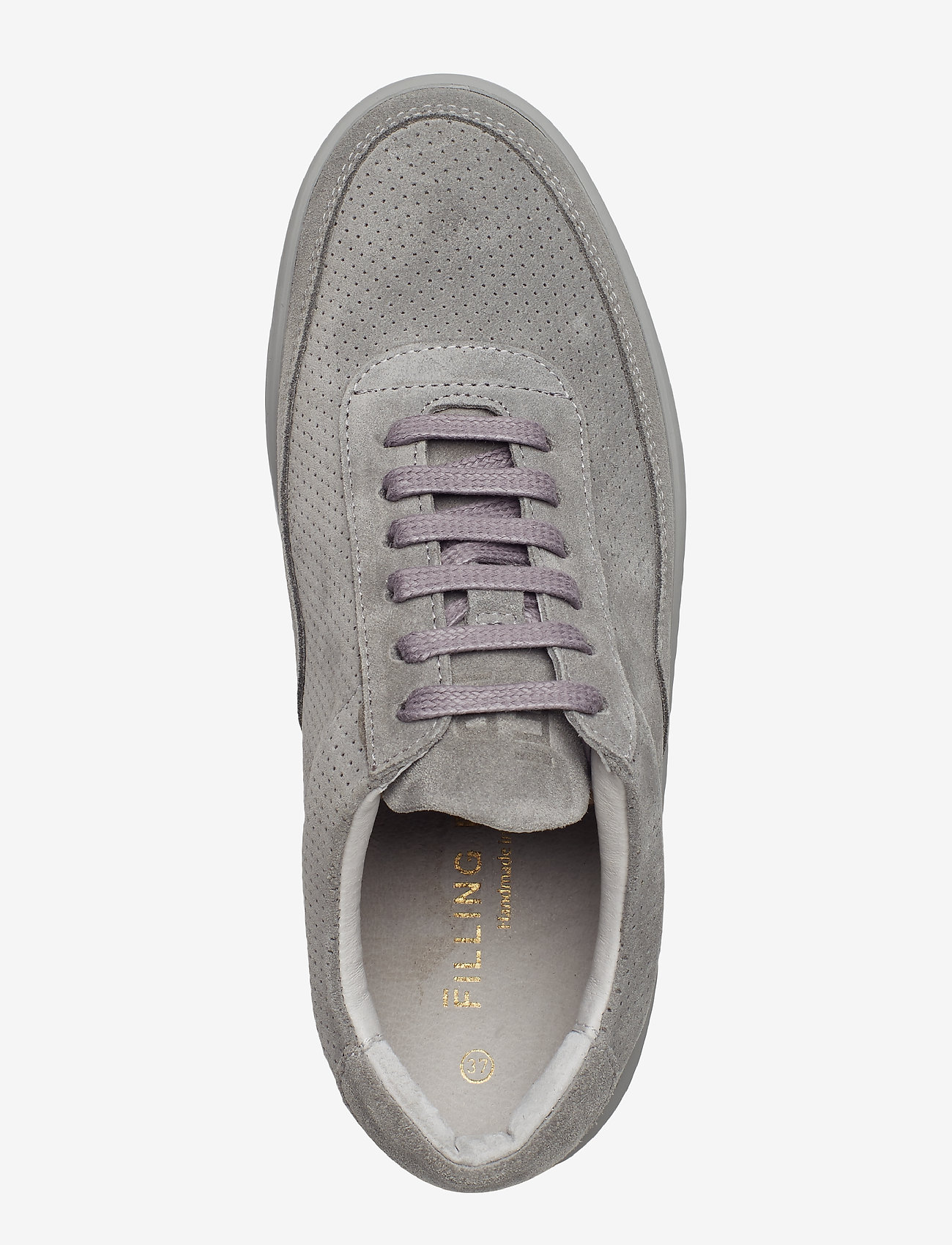 Filling Pieces - Low Mondo Ripple Suede Perforated - låga sneakers - cement grey - 4