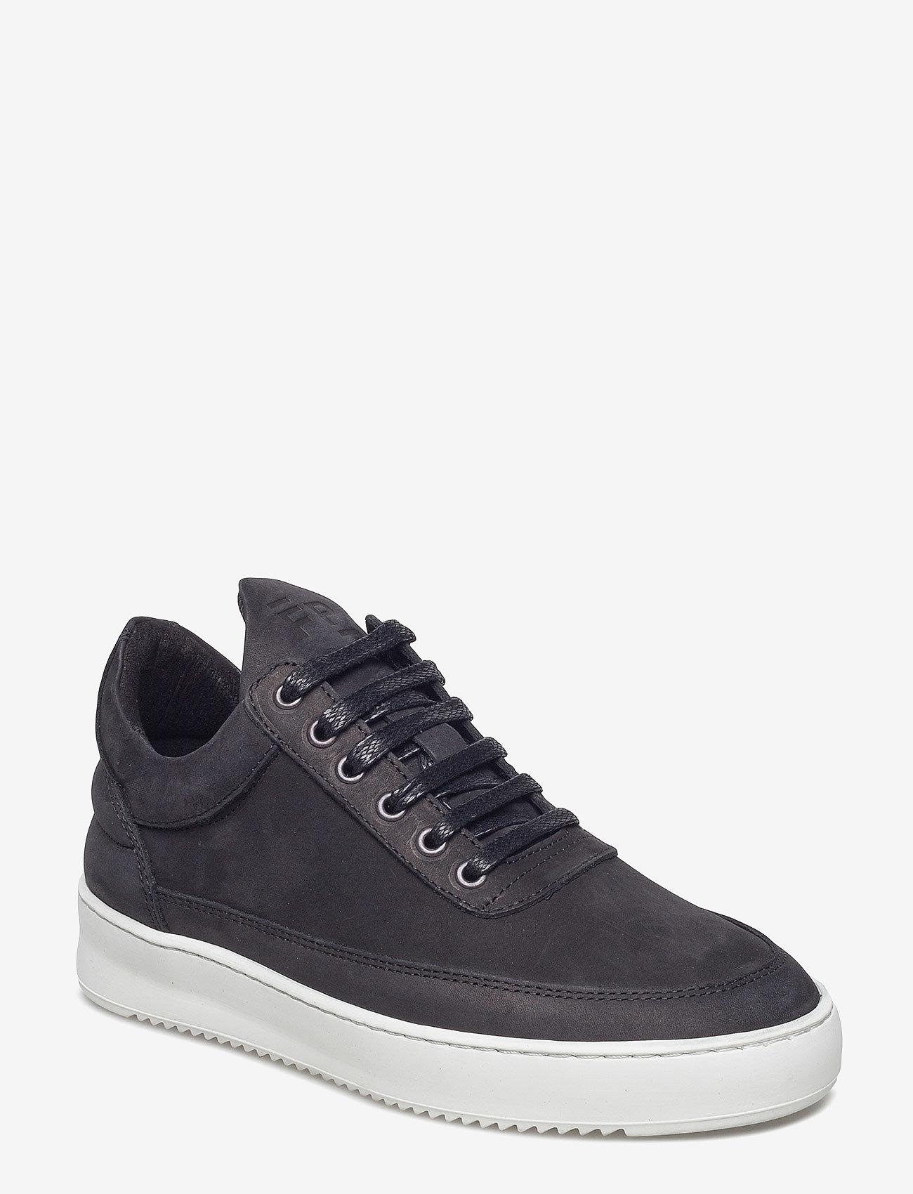 Filling Pieces - Low Top Ripple Basic Black / White - låga sneakers - black/white - 0