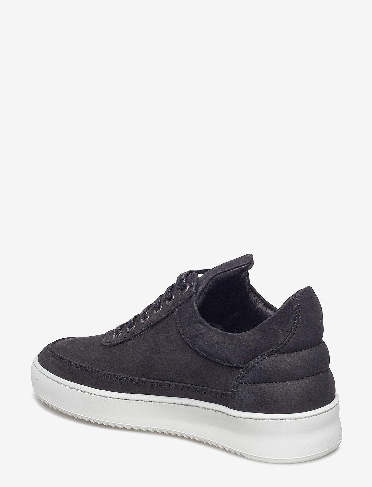 Filling Pieces - Low Top Ripple Basic Black / White - låga sneakers - black/white - 2