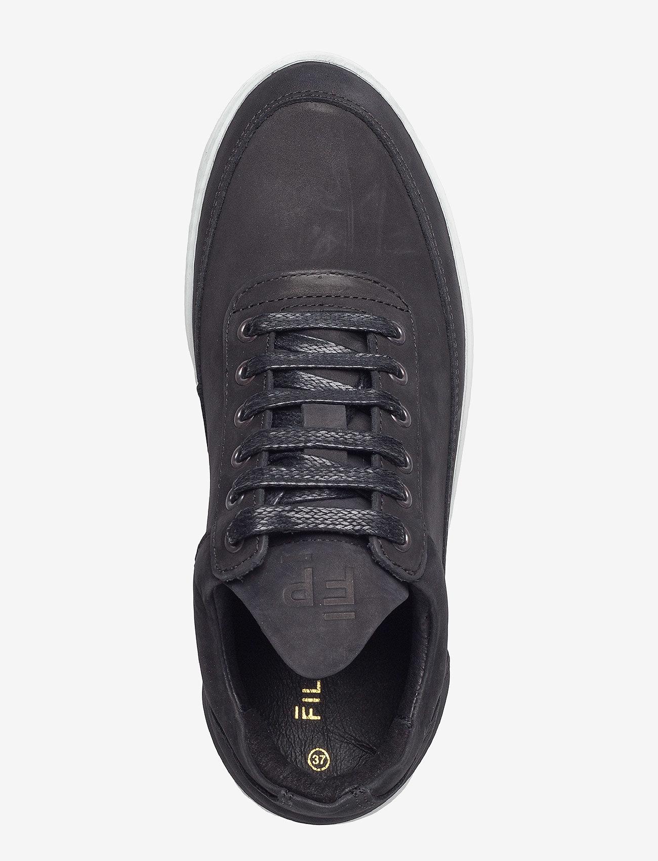 Filling Pieces - Low Top Ripple Basic Black / White - låga sneakers - black/white - 3