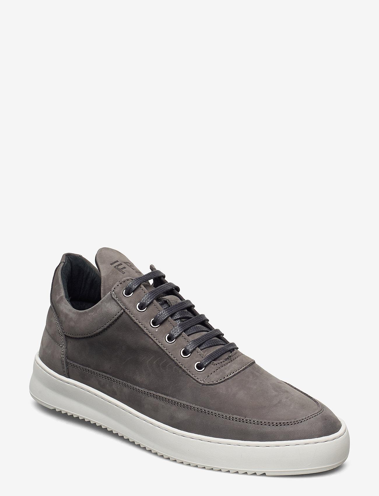 Filling Pieces - Low Top Ripple Nubuck - låga sneakers - black - 0