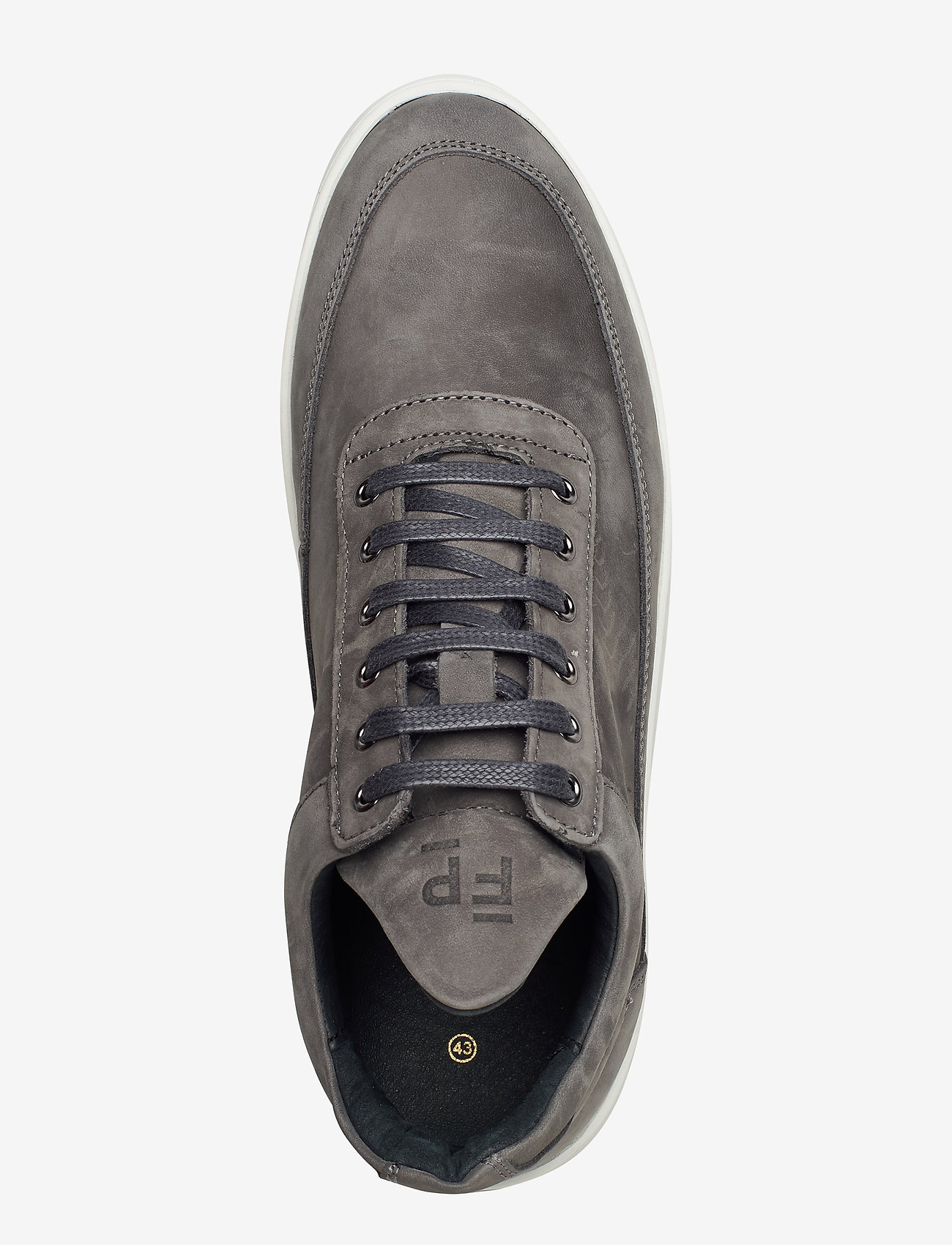 Filling Pieces - Low Top Ripple Nubuck - låga sneakers - black - 3