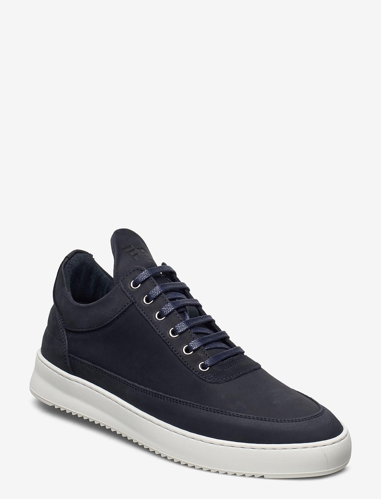 Filling Pieces - Low Top Ripple Nubuck - låga sneakers - dark blue - 0