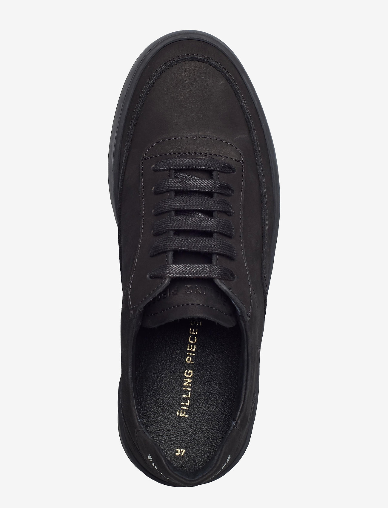 Filling Pieces - Mondo 2.0 Ripple Nubuck - låga sneakers - all black - 3