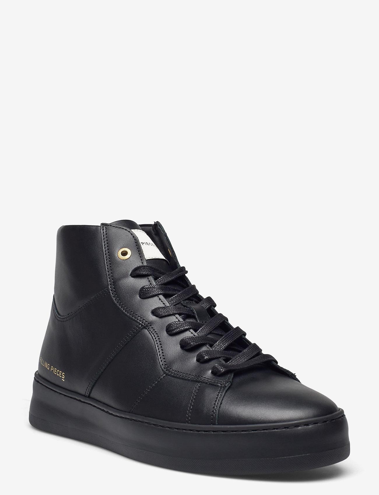 Filling Pieces - Mid Plain Court - höga sneakers - black - 0