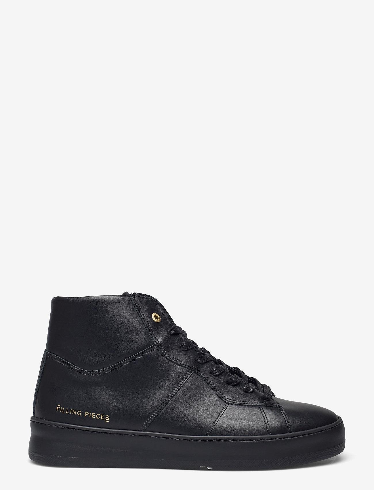 Filling Pieces - Mid Plain Court - höga sneakers - black - 1