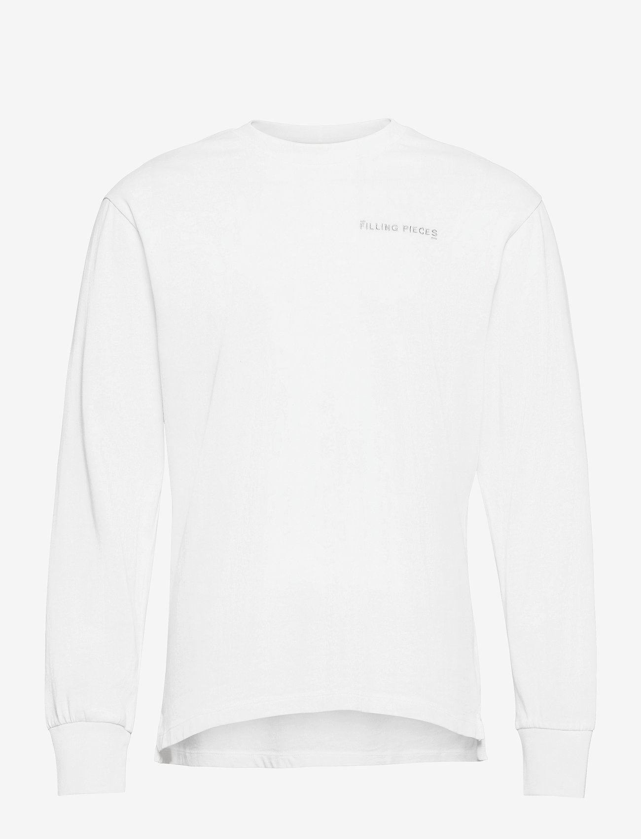 Filling Pieces - Essential Core Logo Tee - basic t-shirts - white - 0