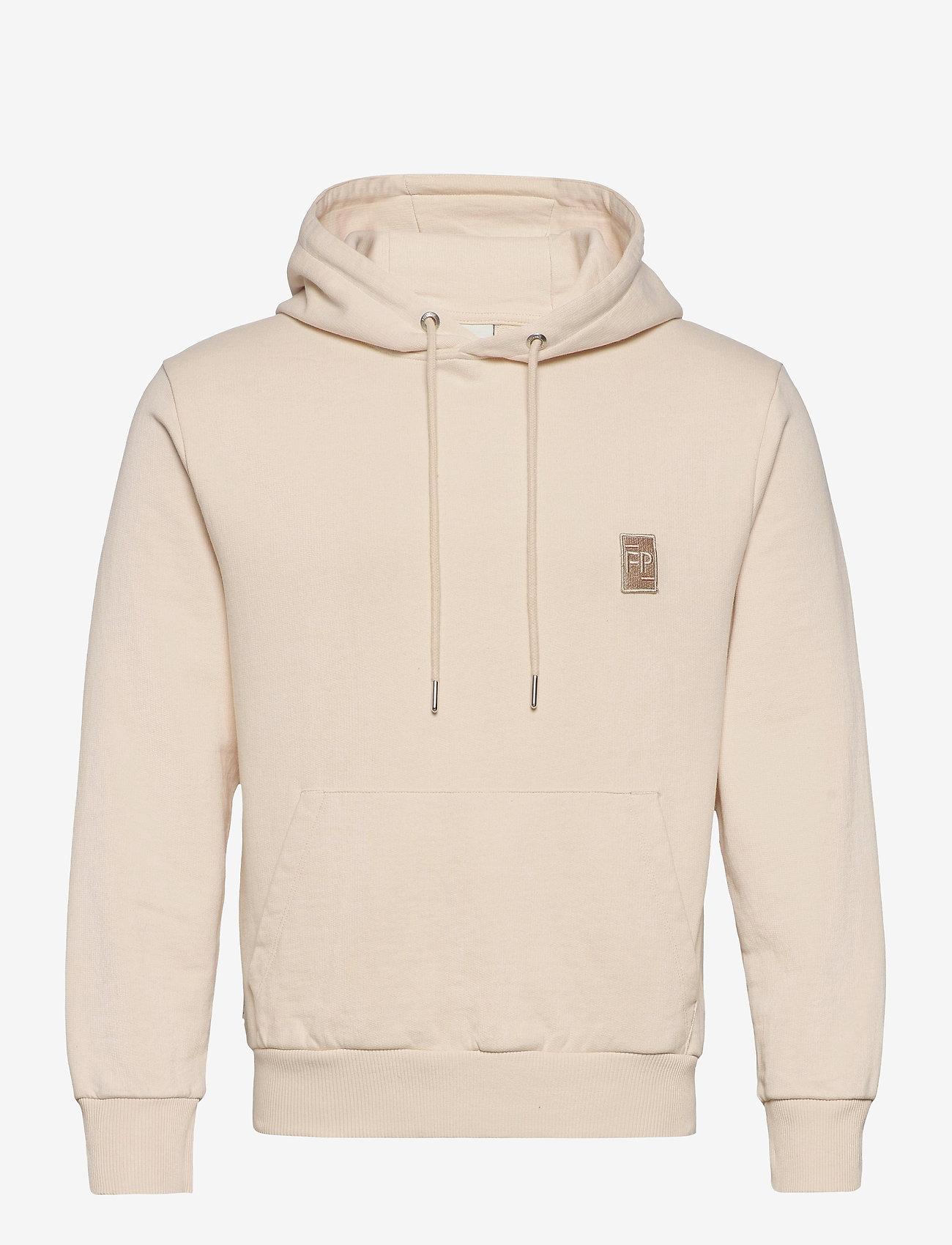 Filling Pieces - Essential Two Stripe Hoodie - hoodies - beige - 0