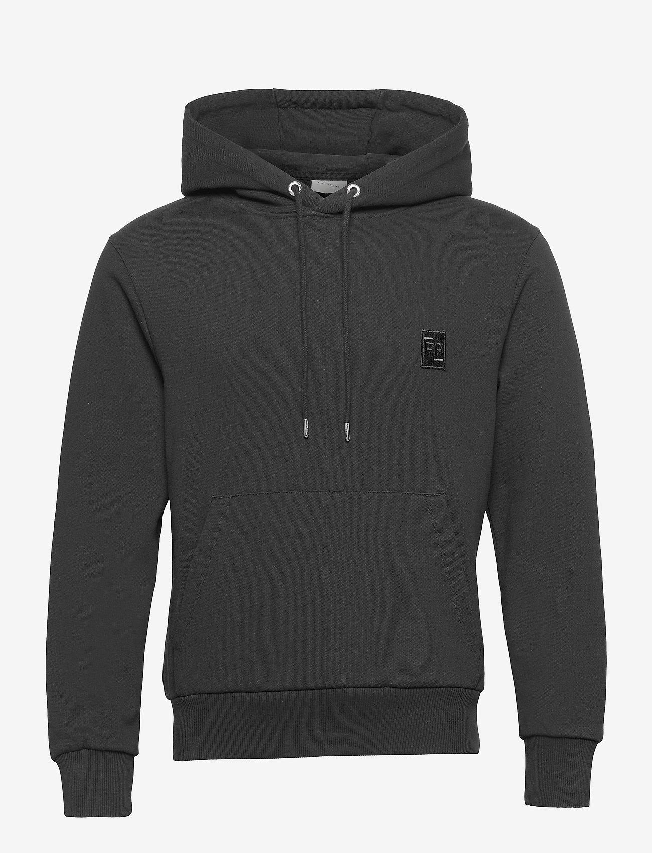 Filling Pieces - Essential Two Stripe Hoodie - hoodies - black - 0