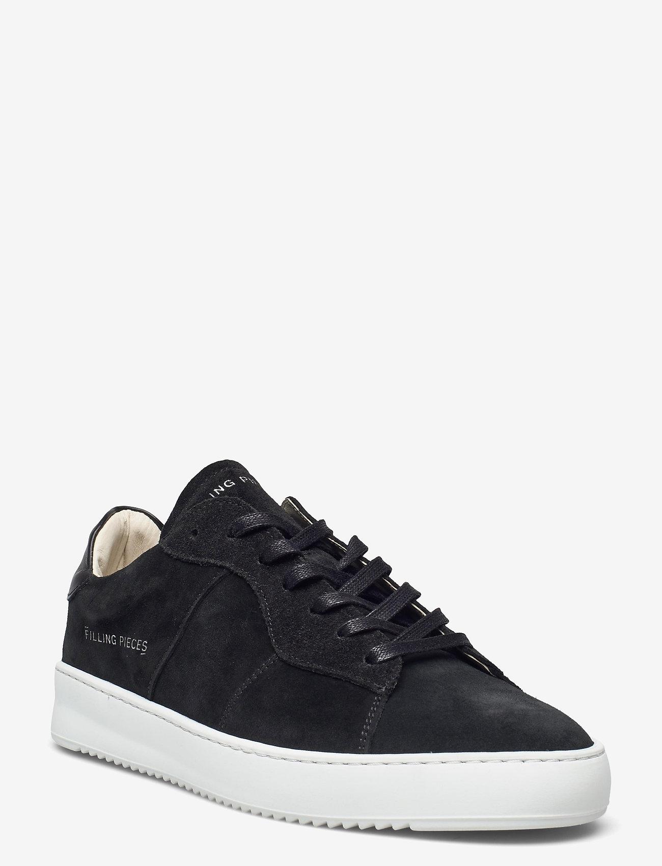 Filling Pieces - Court Ripple Suede - låga sneakers - black - 0