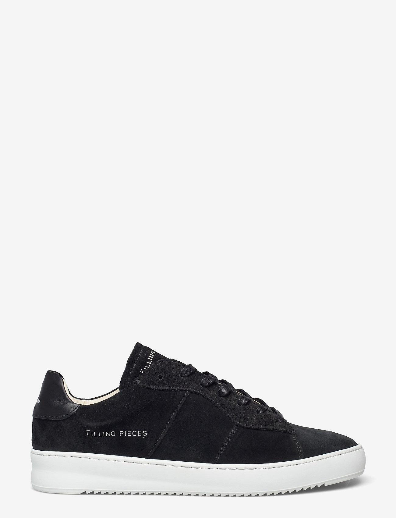 Filling Pieces - Court Ripple Suede - låga sneakers - black - 1