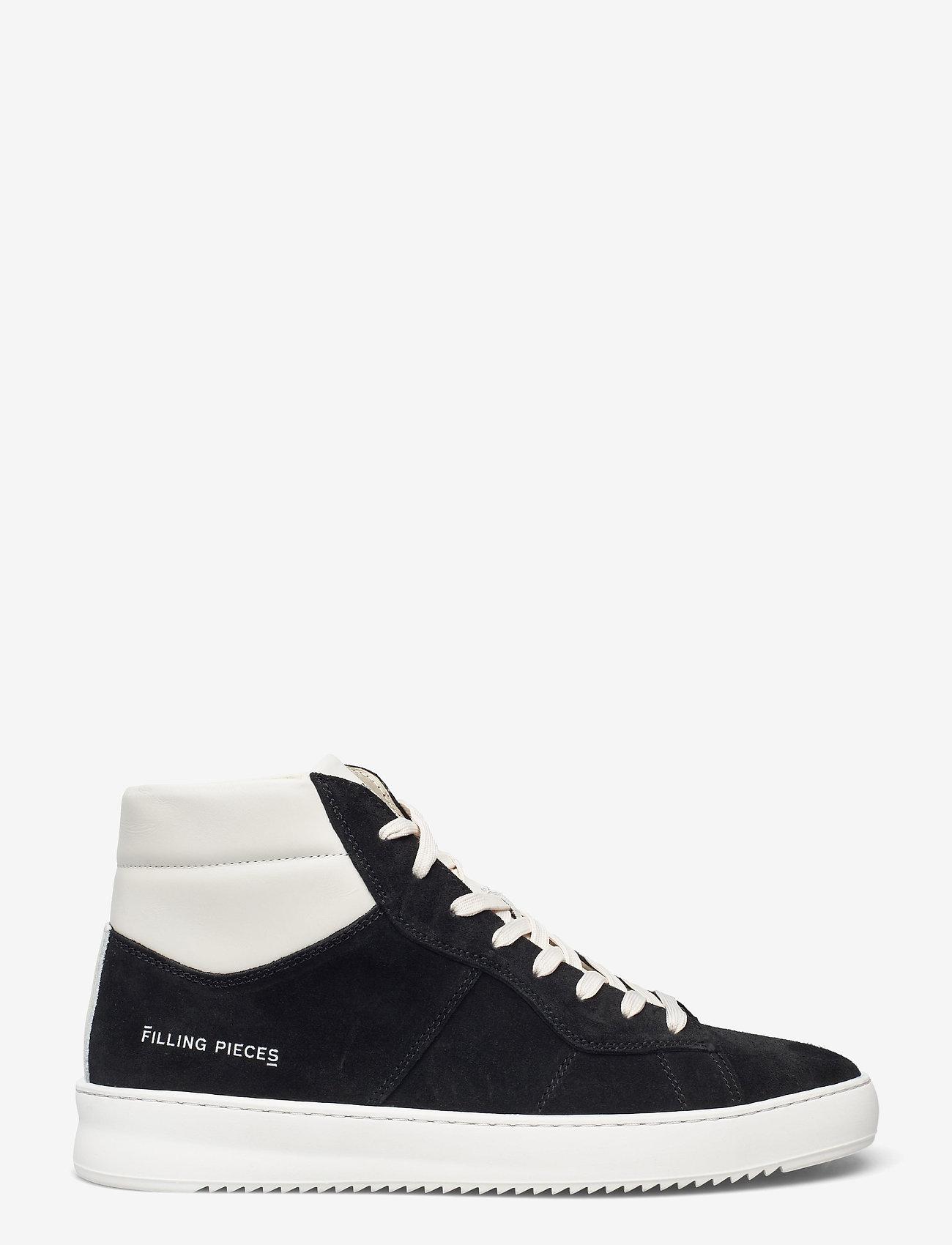 Filling Pieces - Mid Court Suede - höga sneakers - black - 1