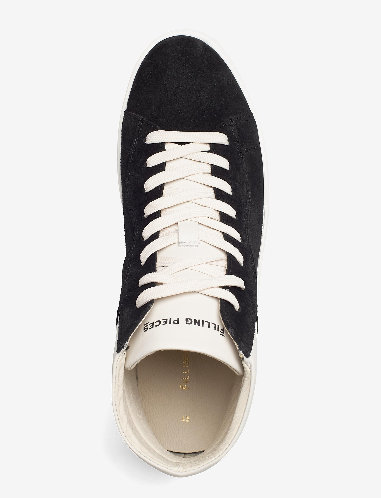 Filling Pieces - Mid Court Suede - höga sneakers - black - 3