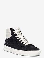 Filling Pieces - Mid Court Suede - höga sneakers - black - 0