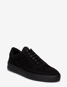 Low Mondo Ripple Suede Perforated - ALL BLACK