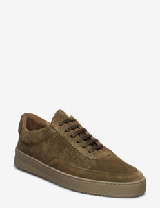 Low Mondo Ripple Suede Perforated - ARMY GREEN