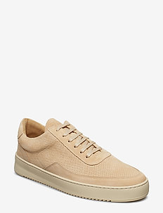 Low Mondo Ripple Suede Perforated - tenis - beige
